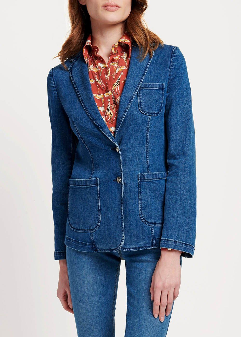 Kelly two-button denim jacket - Denim - Woman
