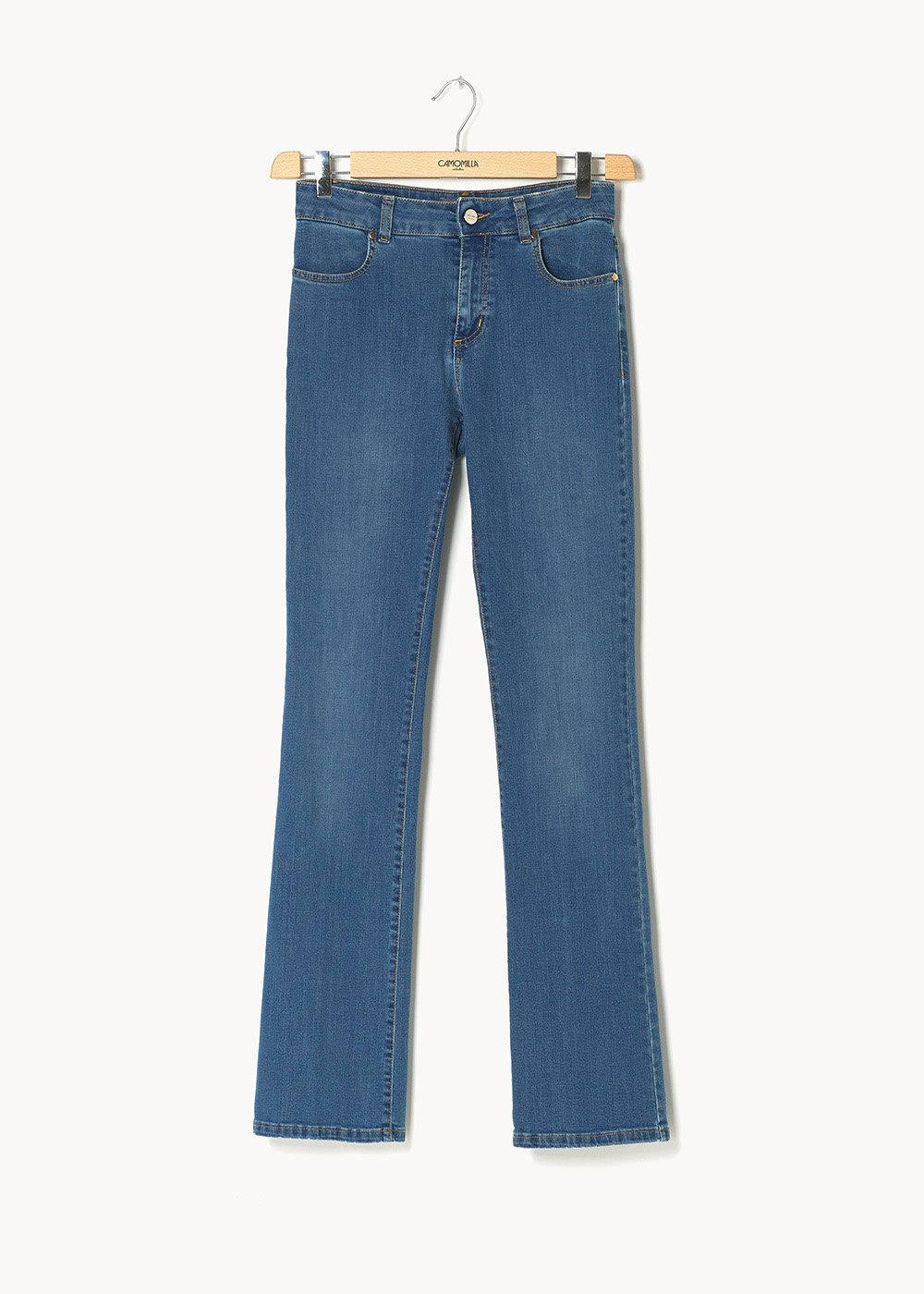 Denim Cindy gamba larga - Denim - Donna