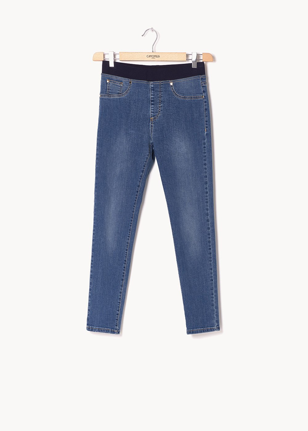 Kelly denim with contrasting stitching - Denim - Woman