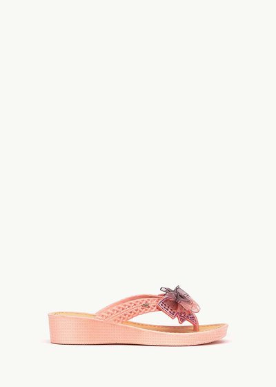 Sukie flip flops with bow detail