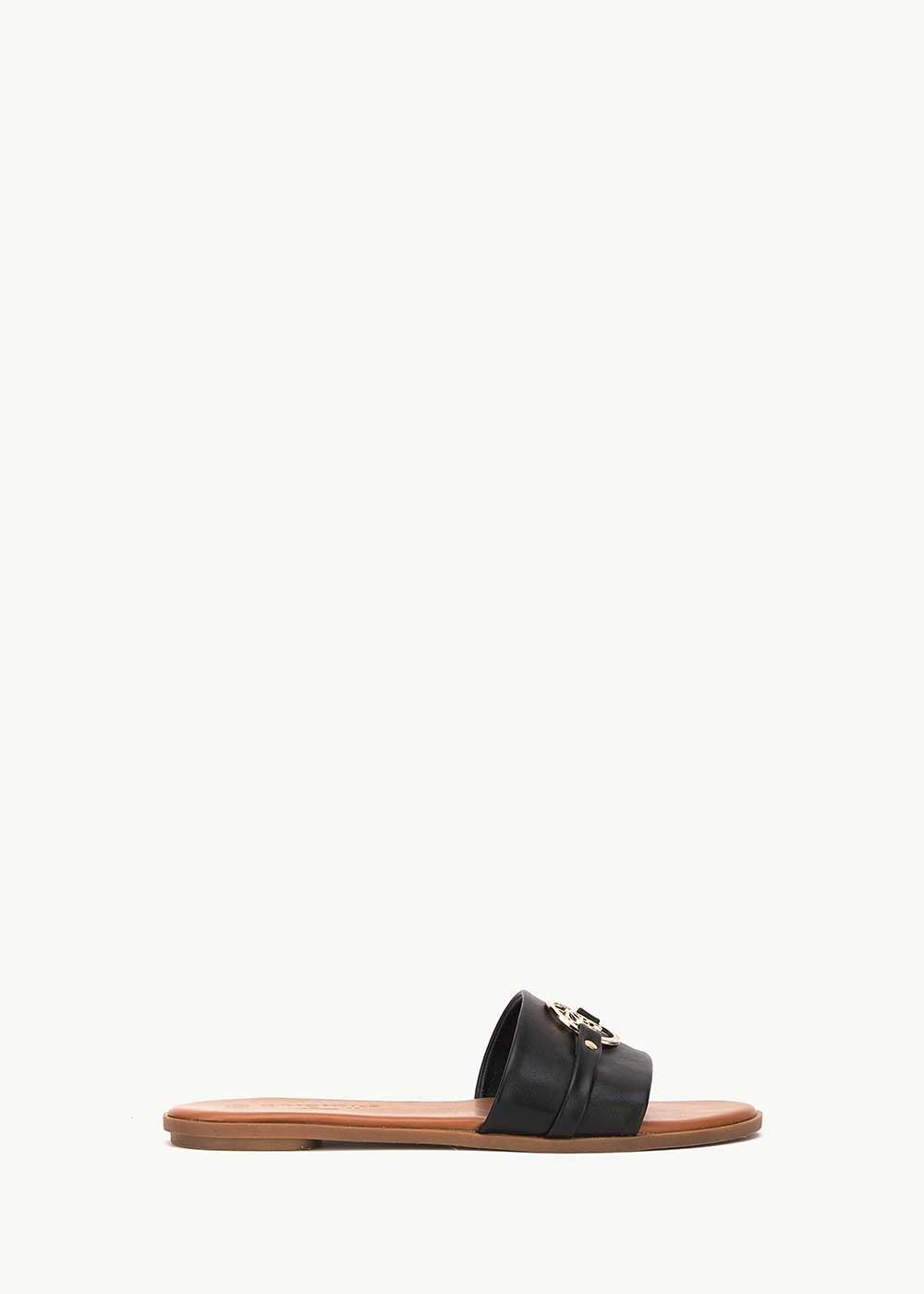 Sydne sandal with CI logo - Black - Woman