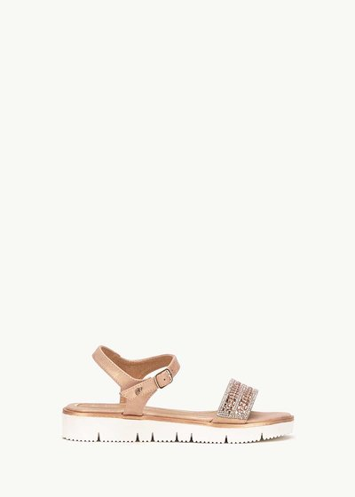 Sandalo Shevon con fascia di cristalli