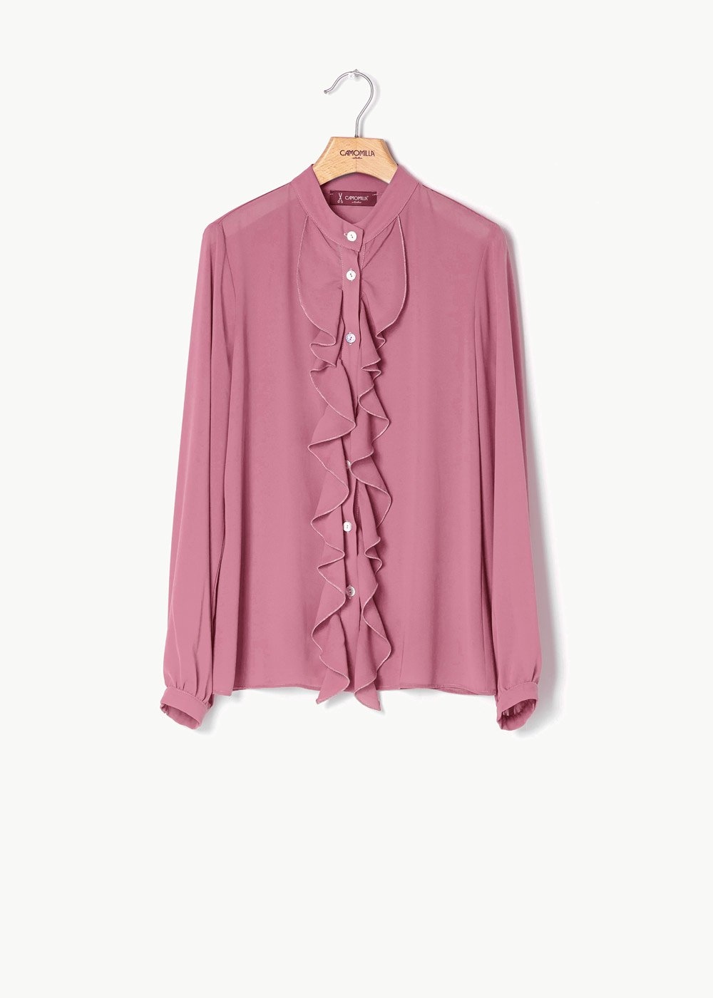 Caterina shirt with frills - Candy - Woman