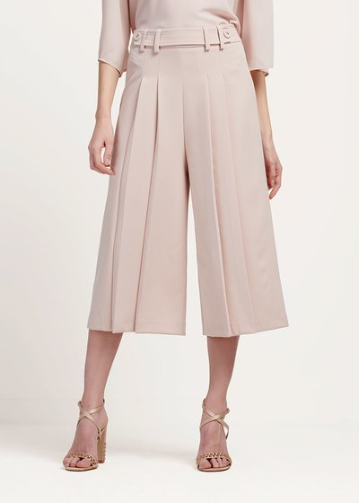 Paul wide leg capri trousers