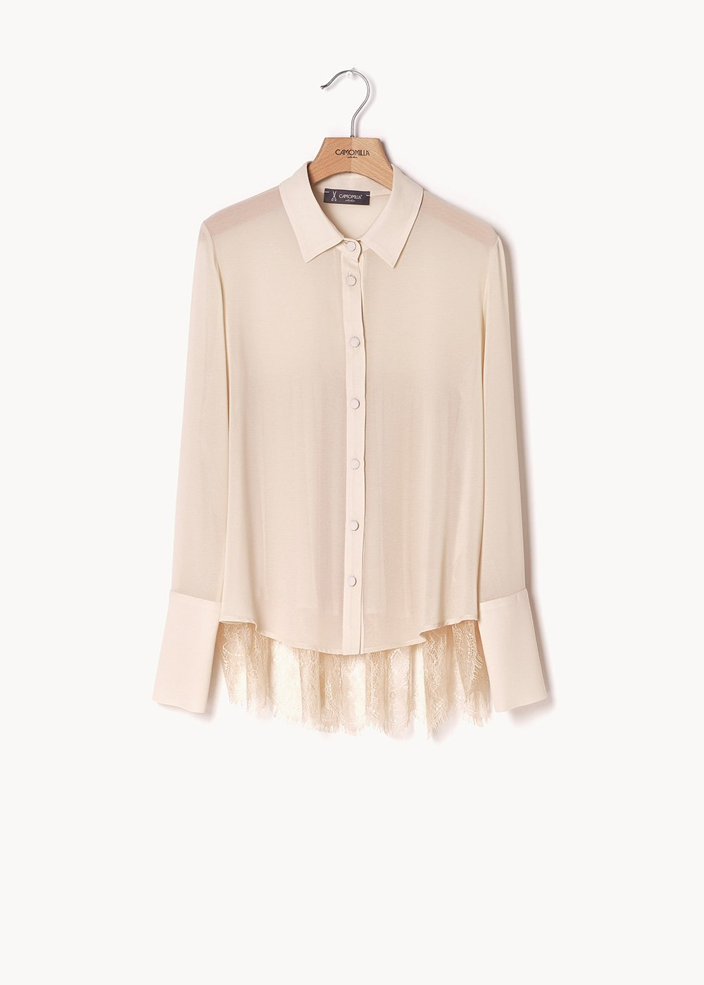 Clorinda shirt with lace on the back - Ginger - Woman