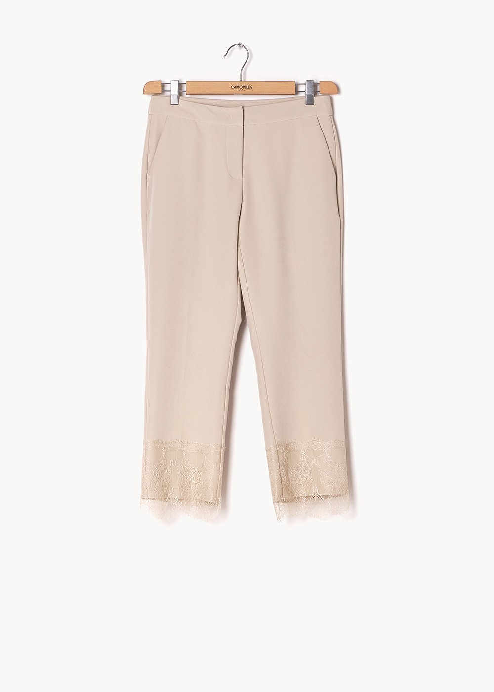 Palmer trousers with men's cut and lace at the bottom - Ginger - Woman