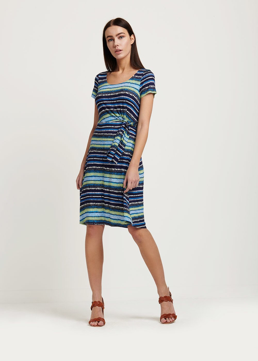 Arios striped dress - M.blue / White / Stripes - Woman