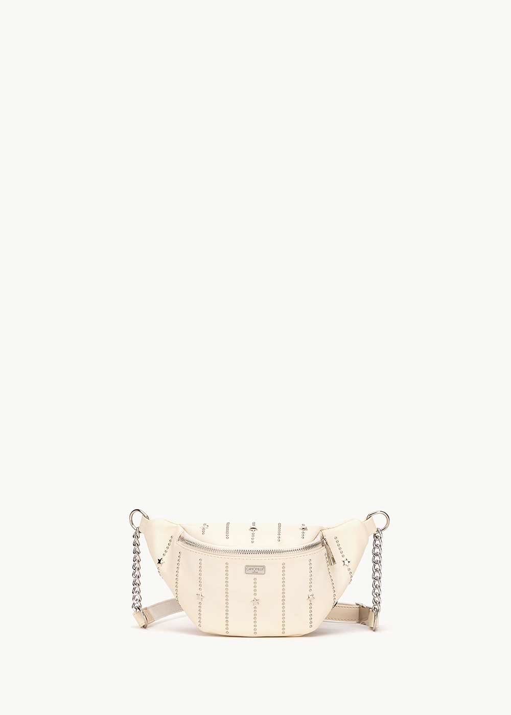Bresh bum bag with metal inserts - coconut - Woman