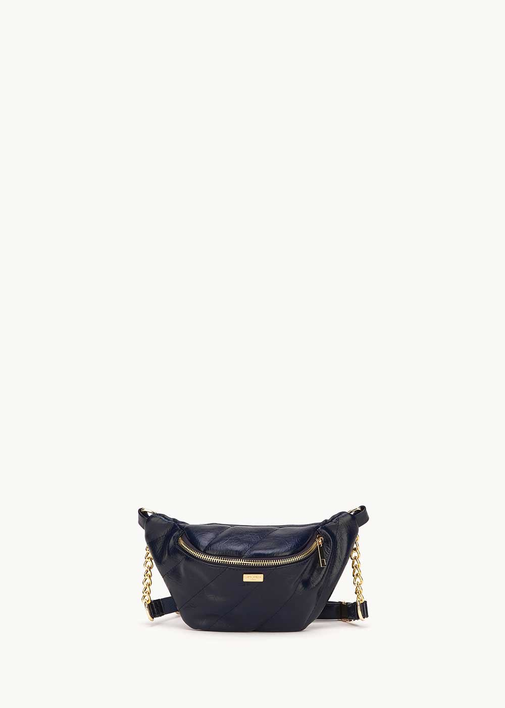 Blesh medium blue bum bag - Medium Blue - Woman