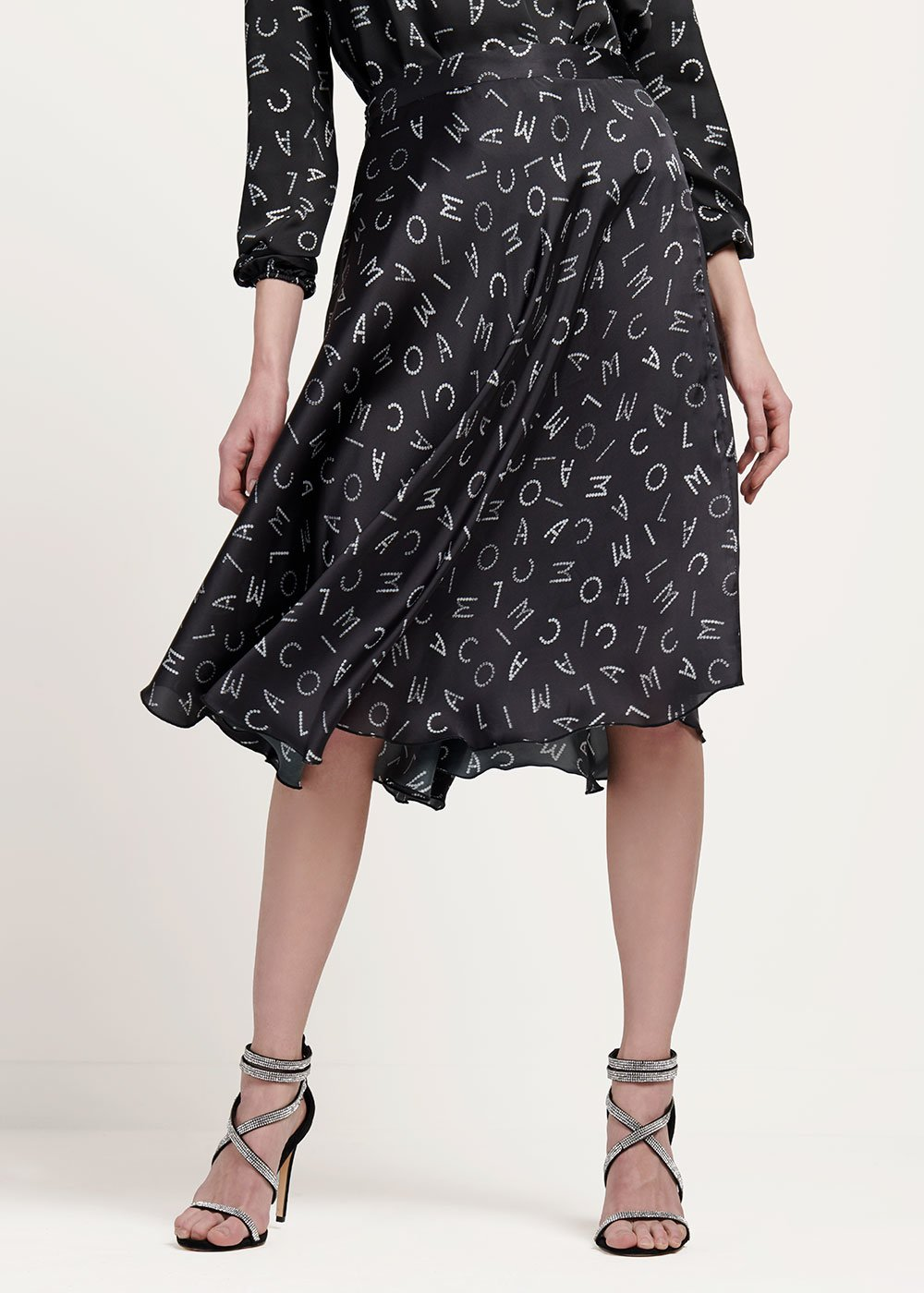 Giorgy skirt with CI print - Black / White Fantasia - Woman