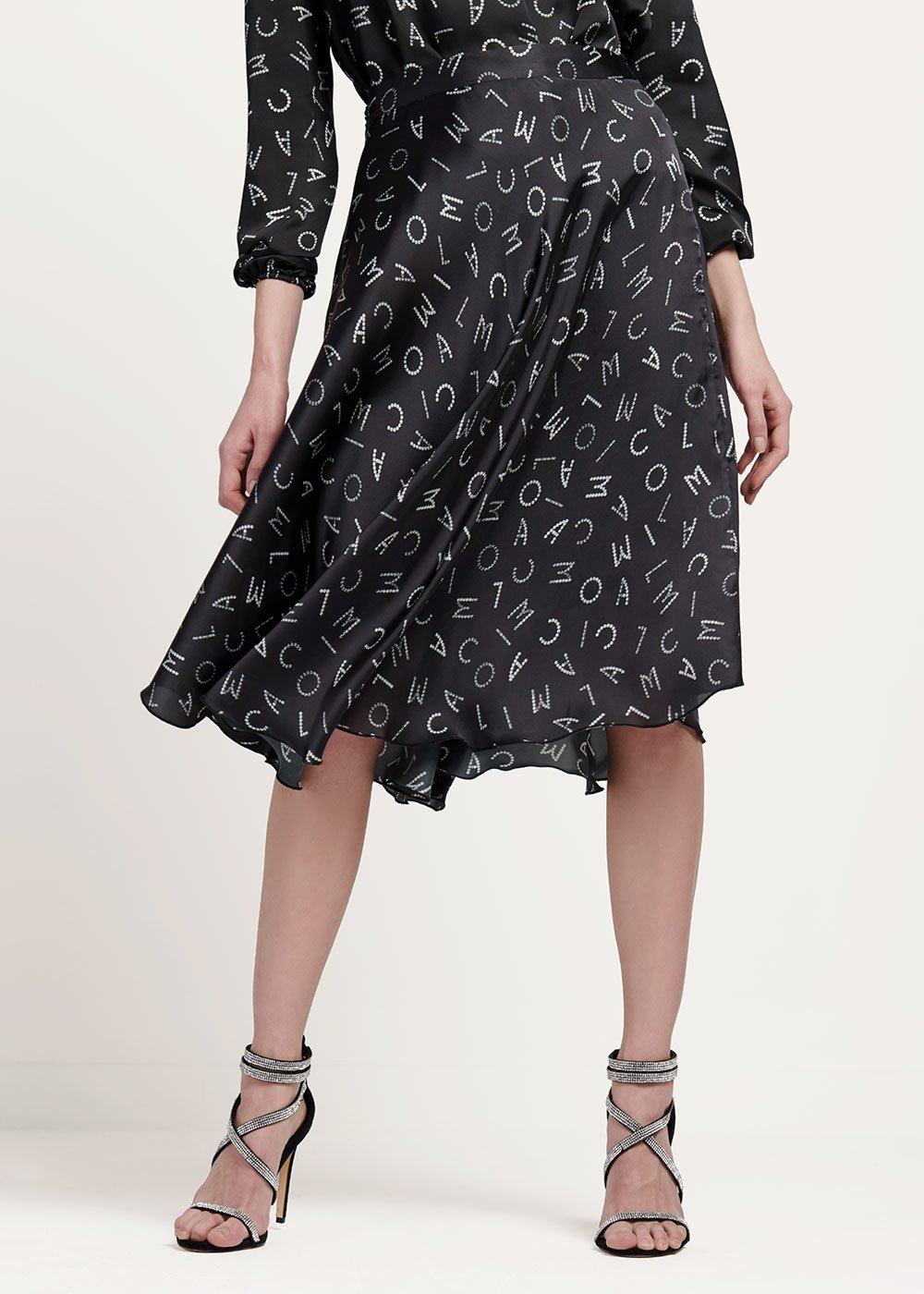 Giorgy skirt with CI print - Black / White Fantasia - Woman