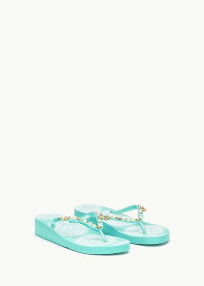 Sierra beach flip flops with beads