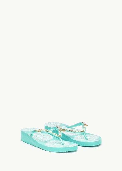 Sierra beach flip flops with beads
