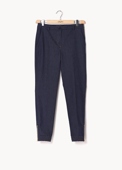 Jane trousers with denim effect