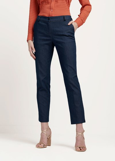 Alice trousers with denim effect