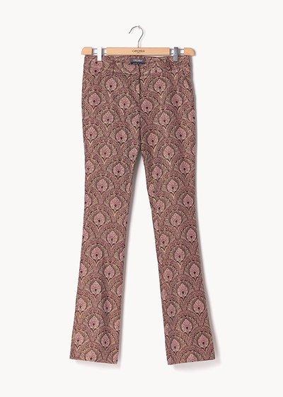 Pantalone modello Cindy fantasia damascata