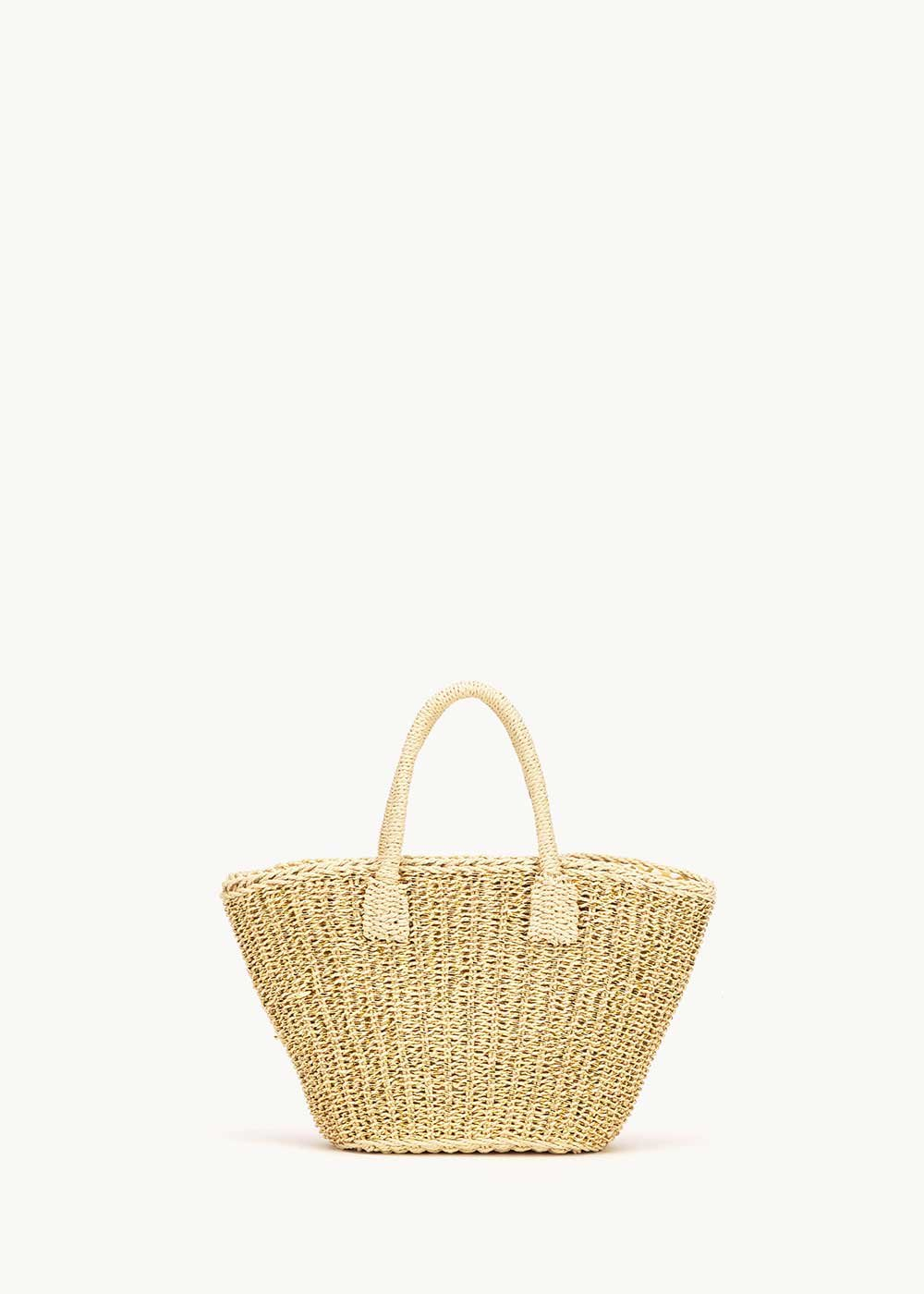 Balia straw bag with shoulder strap - Gold - Woman