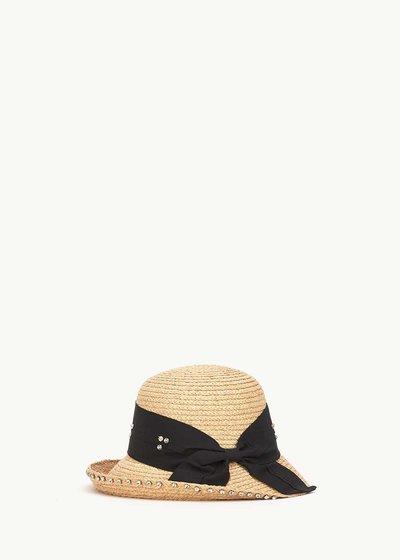 Cappello Cahil con fascia nera e strass