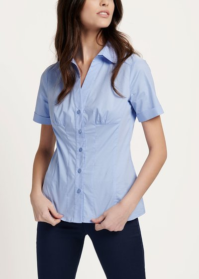Scarlette shirt with short sleeves