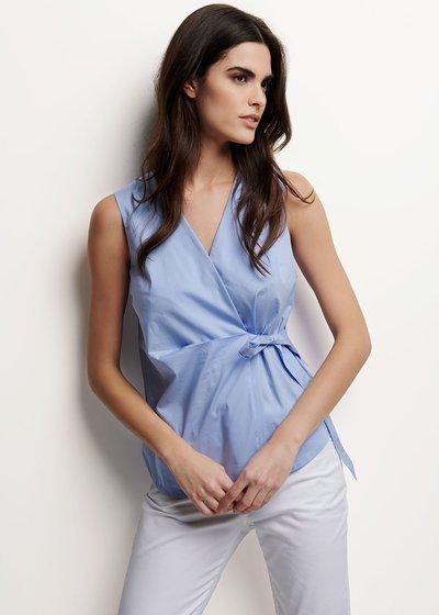 Camicia Victoria con fiocco laterale