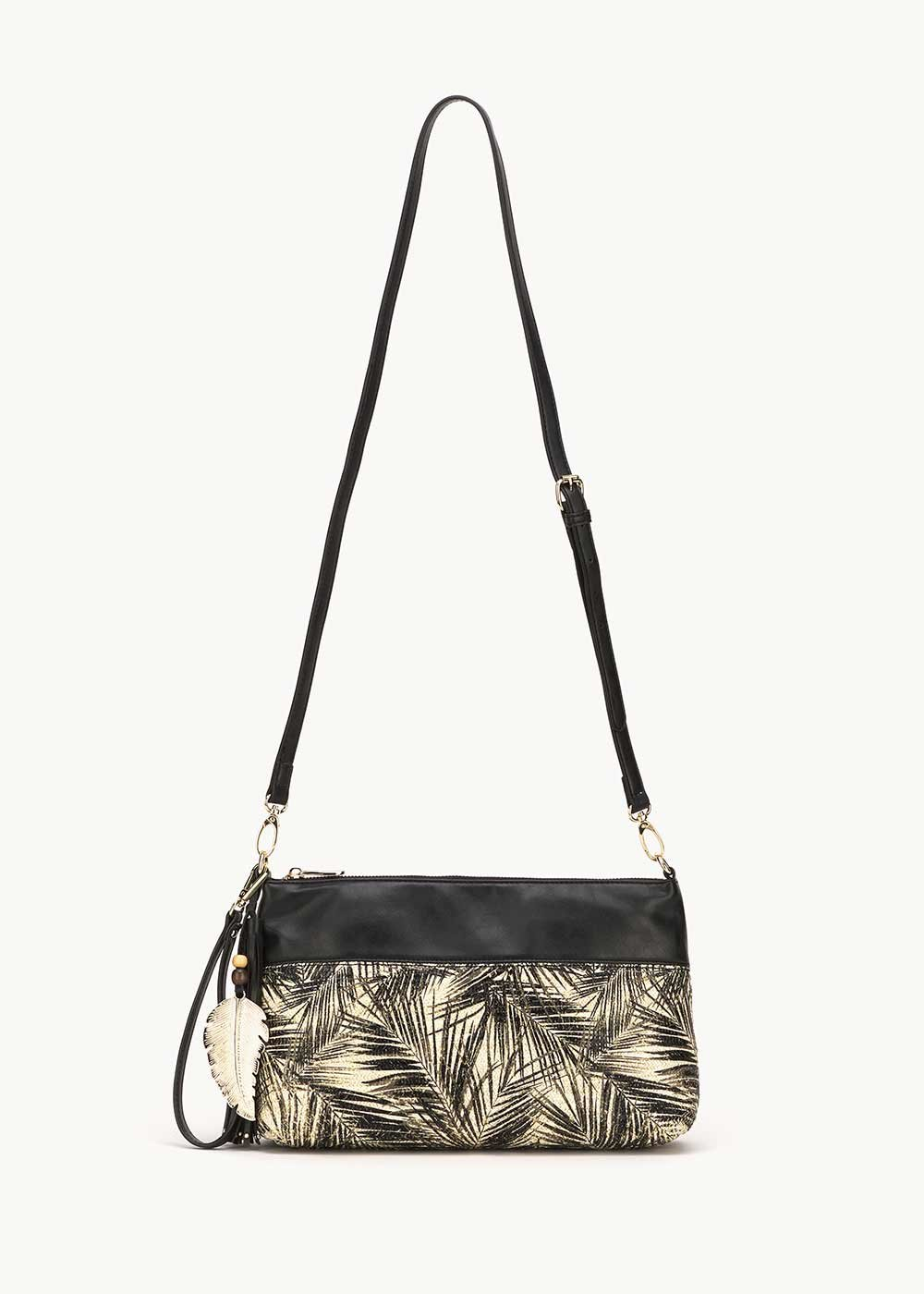 Bely shoulder bag with palm print - Black Fantasia - Woman