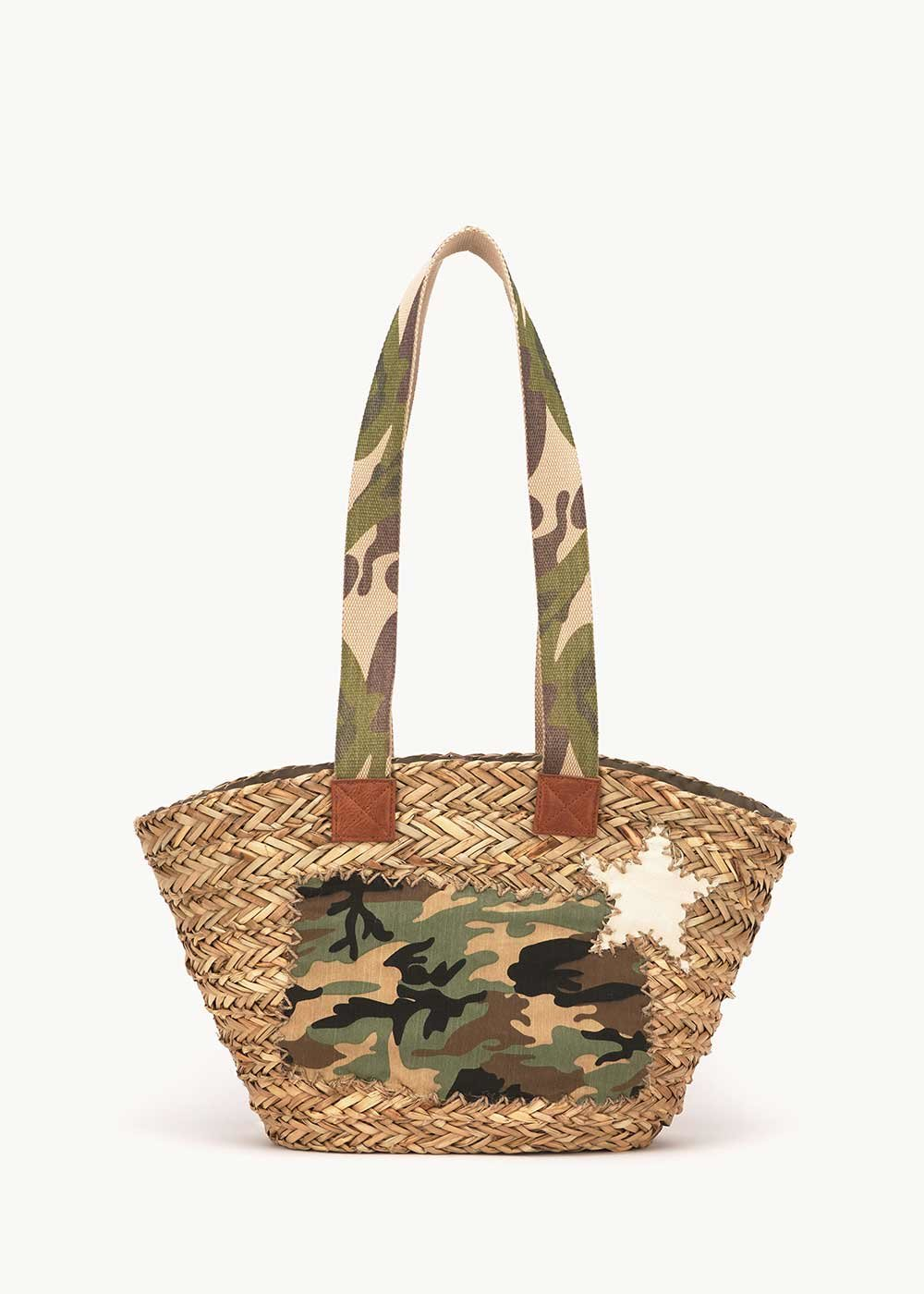 Bairy bag with military-pattern details - Timo Fantasia - Woman