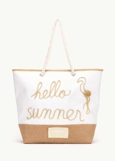 Barl beach bag with writing