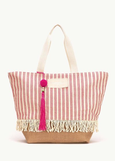 Barth bag with striped pattern