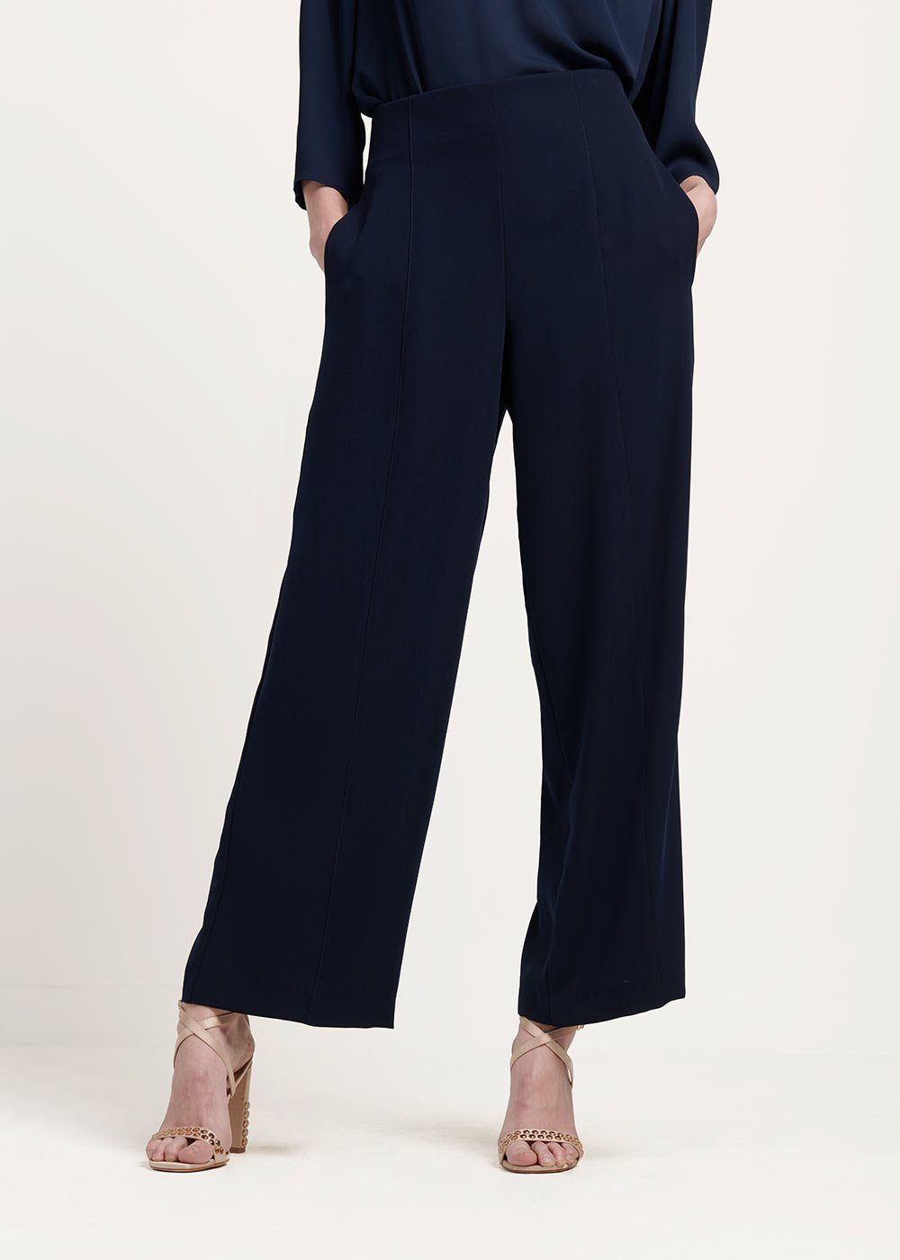 Pamel cady trousers - Blue Navy - Woman