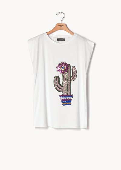 Silvia viscose T-shirt with sequins