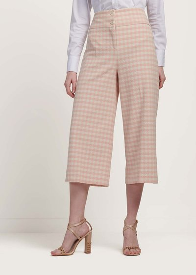 Megan trousers with checked print
