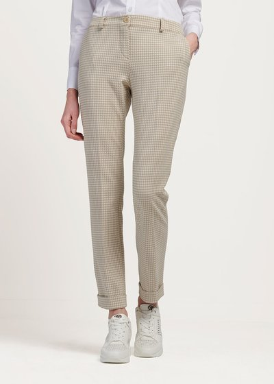 Bella trousers with check pattern