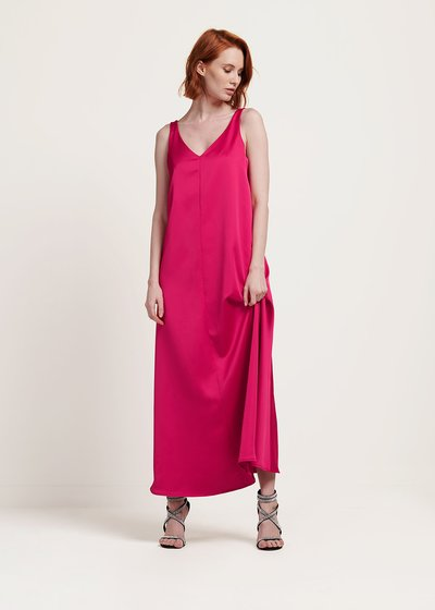 Anabel sleeveless gloss dress