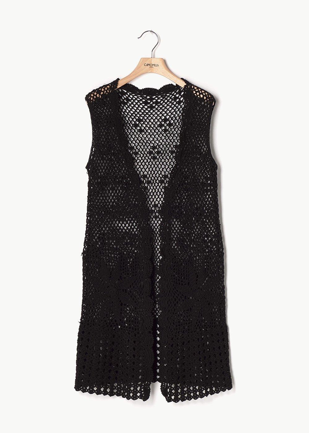 Claudio embroidered waistcoat - Black - Woman