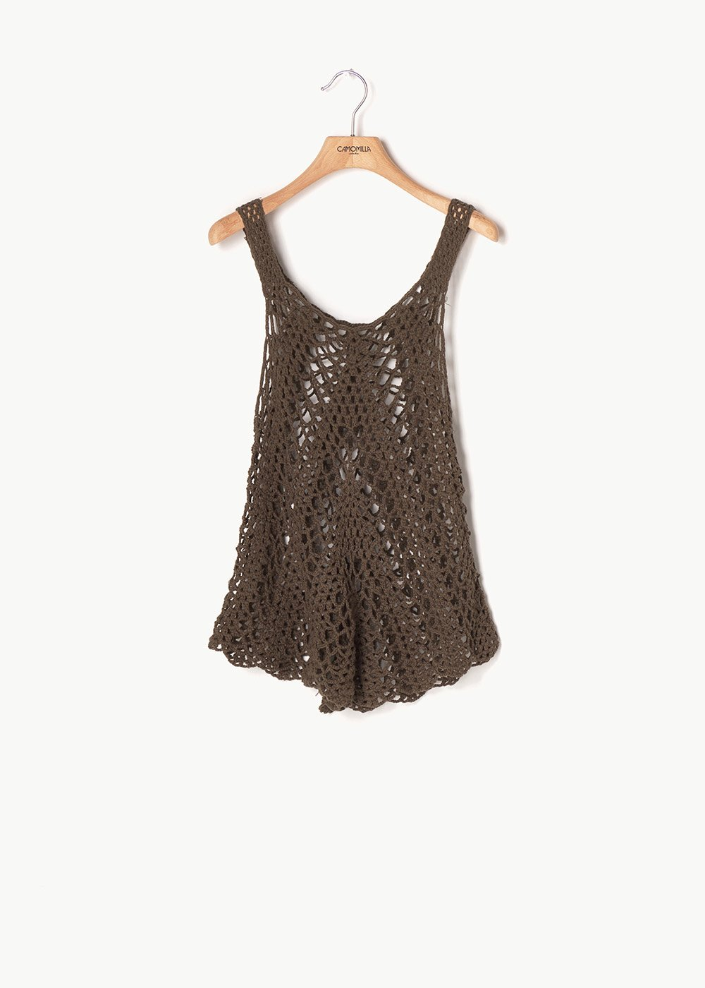 Tago embroidered top - Green - Woman