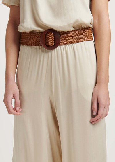 Cassie belt with wooden buckle