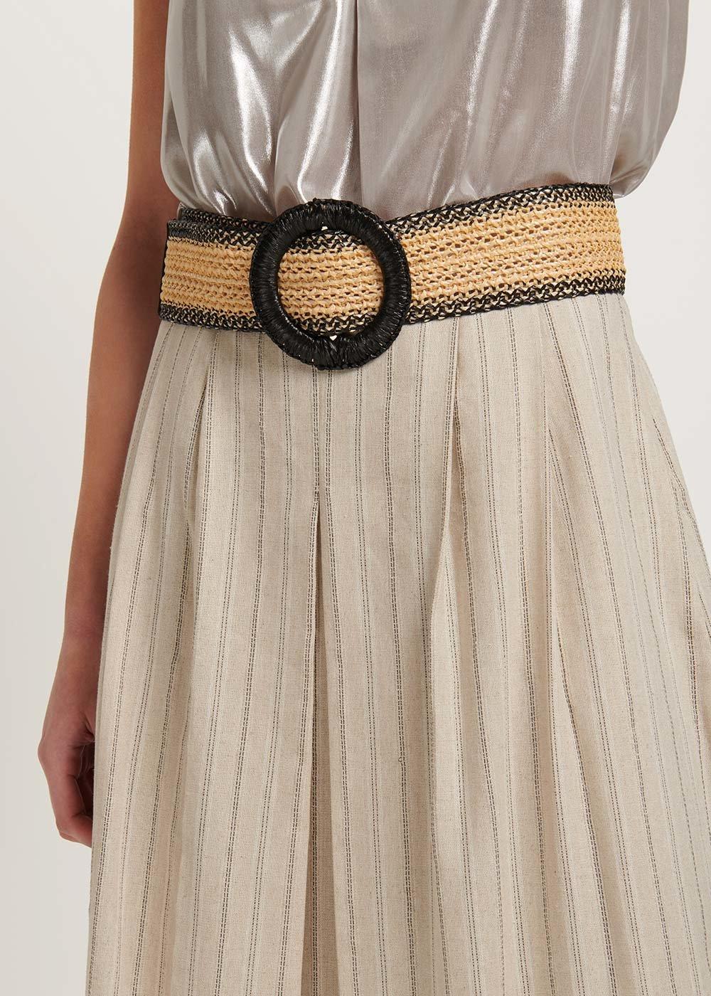 Cintura Crispy bicolor - Light Beige  / Black - Donna