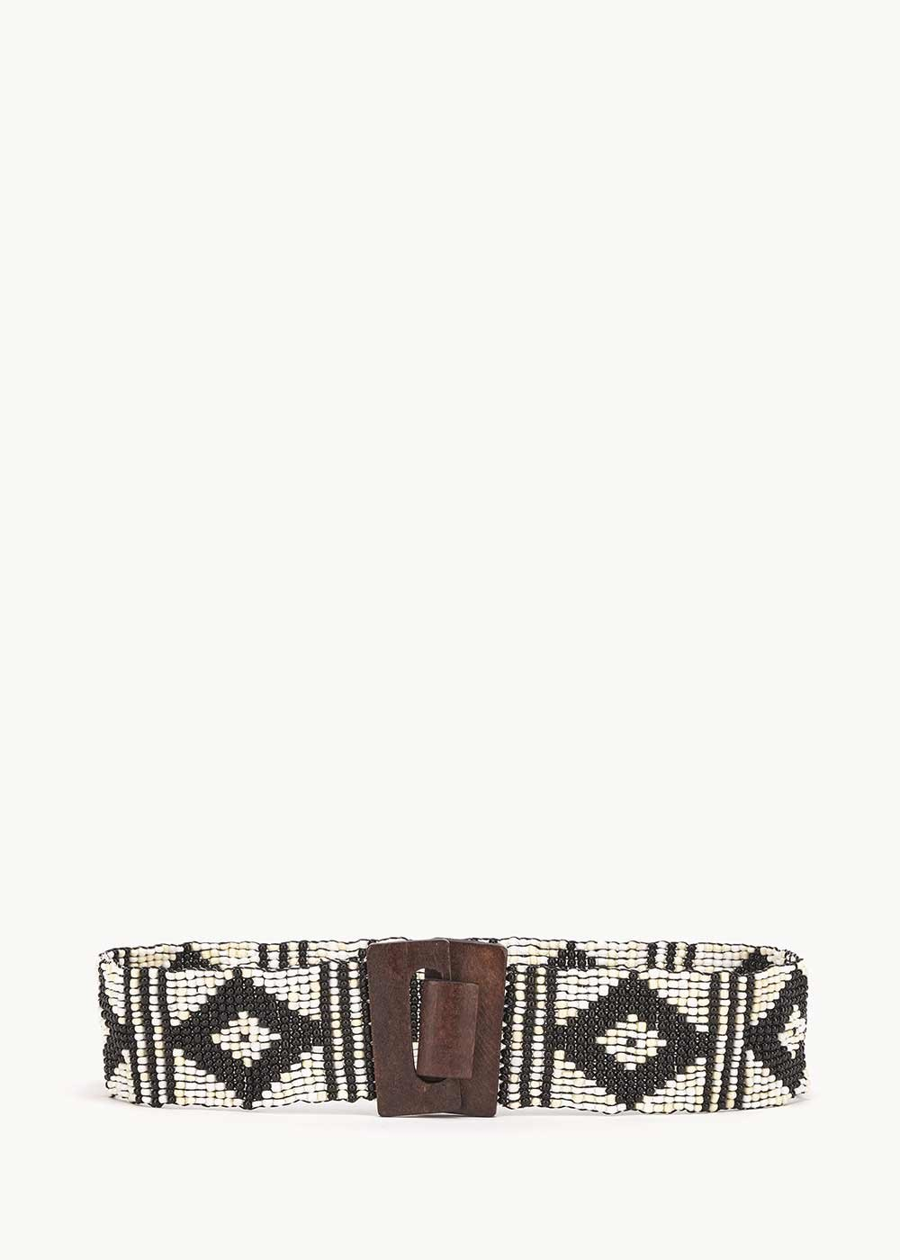 Cintura Ciril modello azteco - Cocco-Black - Donna