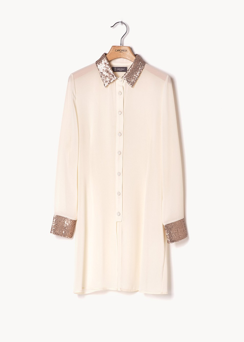 Camiseta shirt-dress with sequin detail