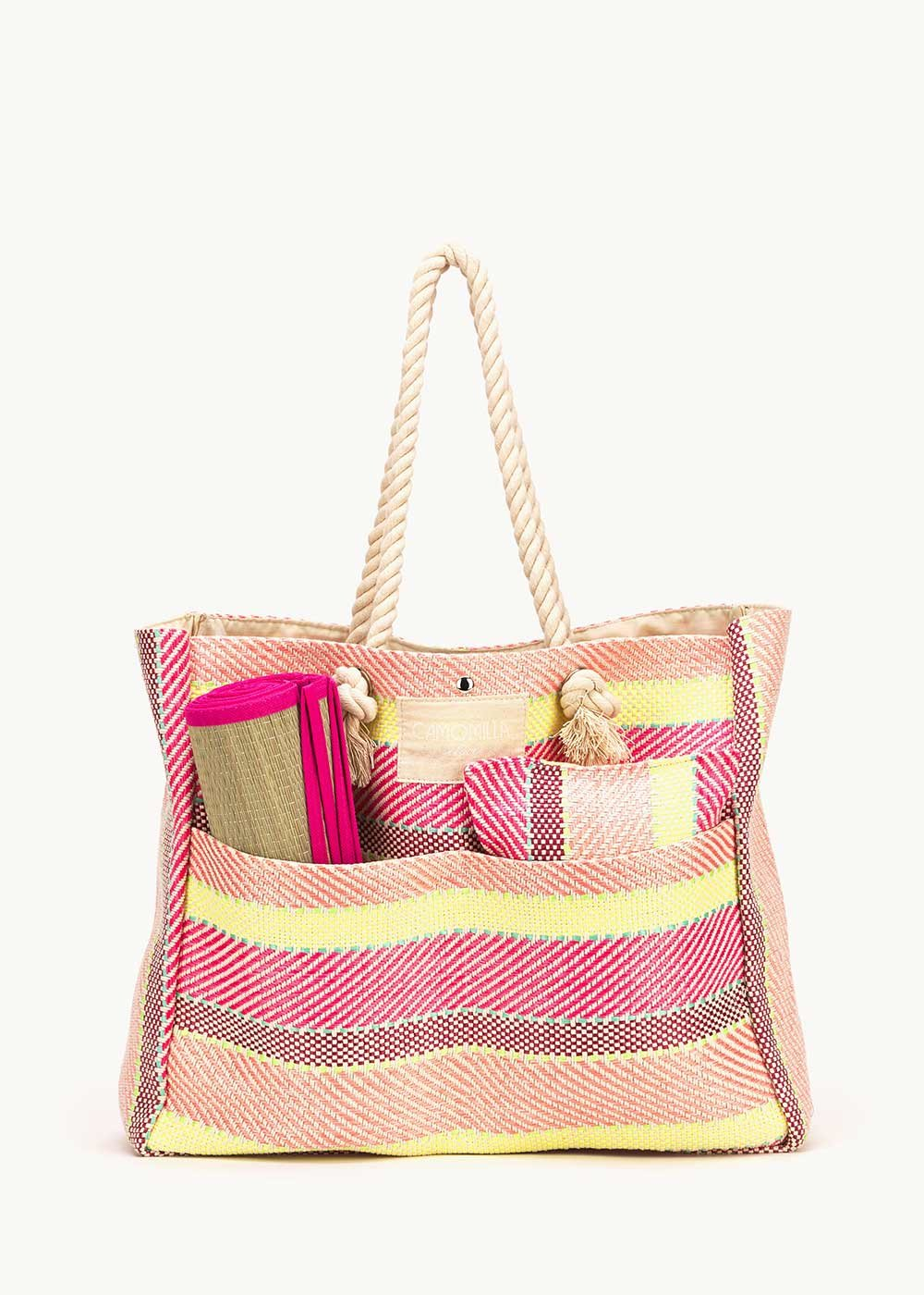 Barry bag with beach set - Candy Stripes - Woman