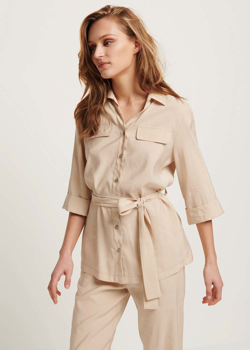 Cliven shirt with pockets - Ginger - Woman