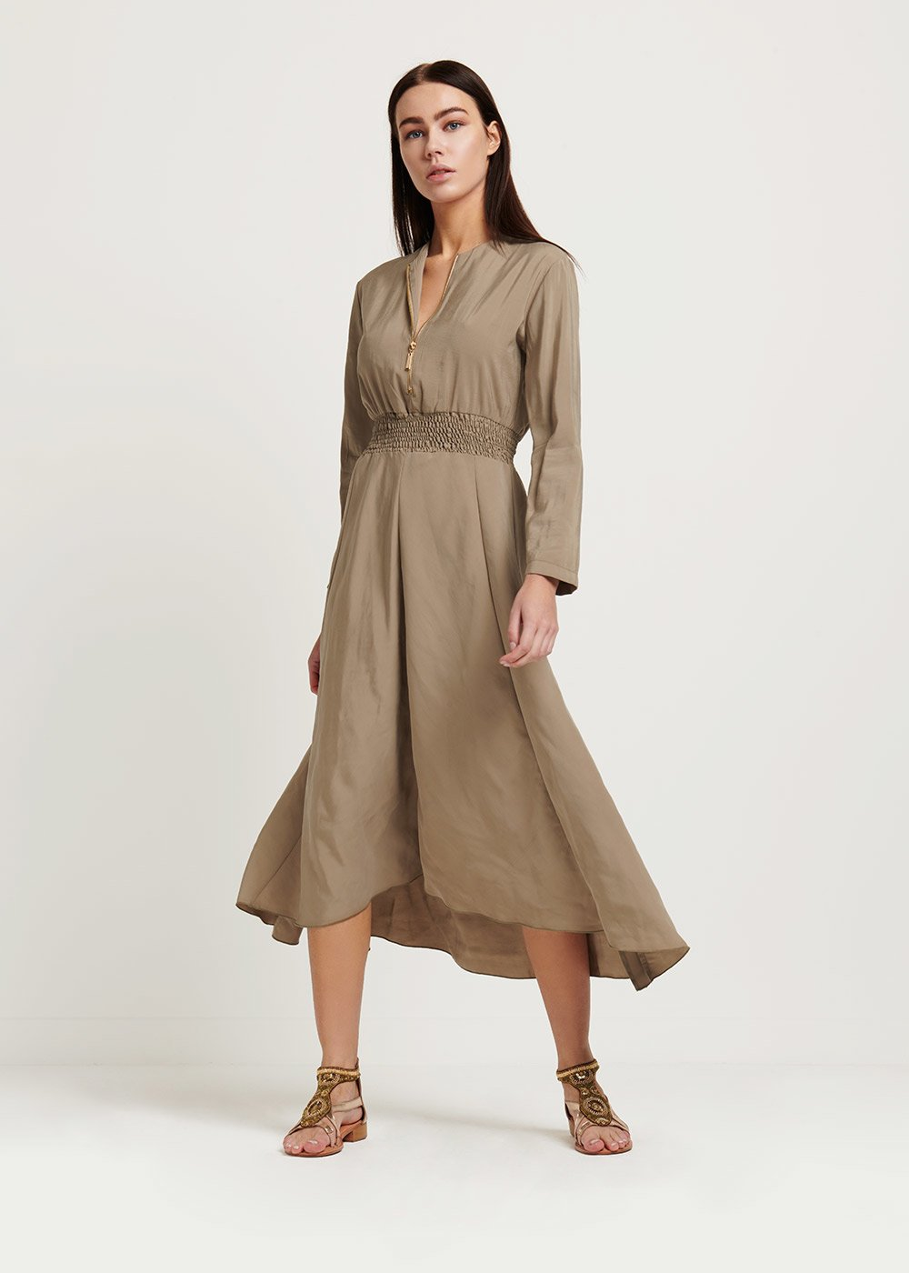 Alfred dress with zipper - Green - Woman