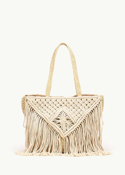 Bardy shopping bag with fringes