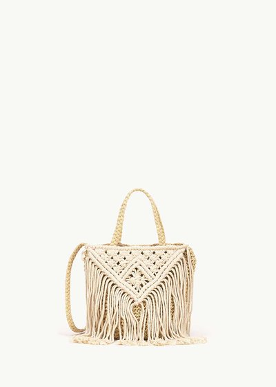 Barkly shopping bag with fringes