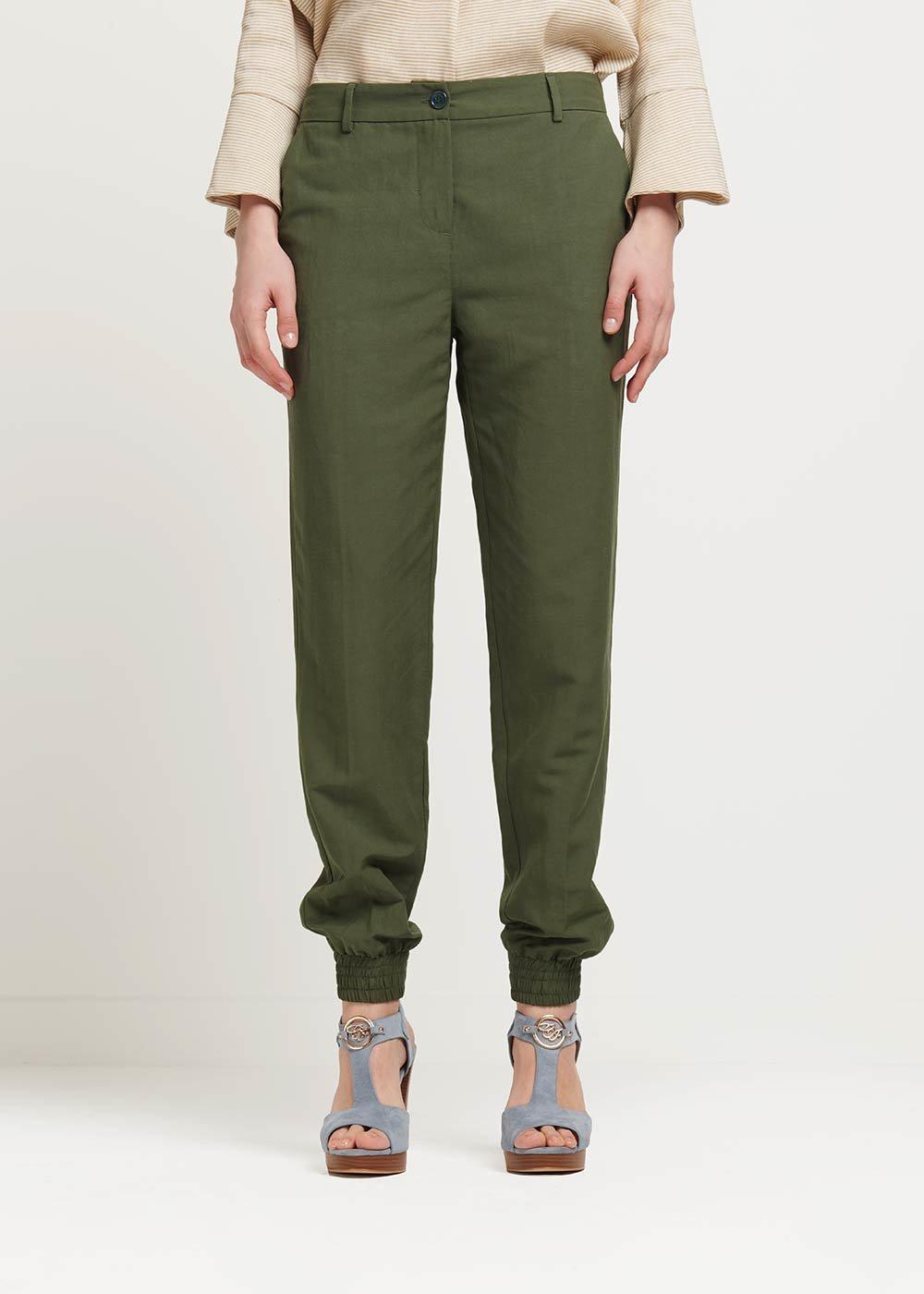 Pantalone Jane con zip al fondo - Timo - Donna