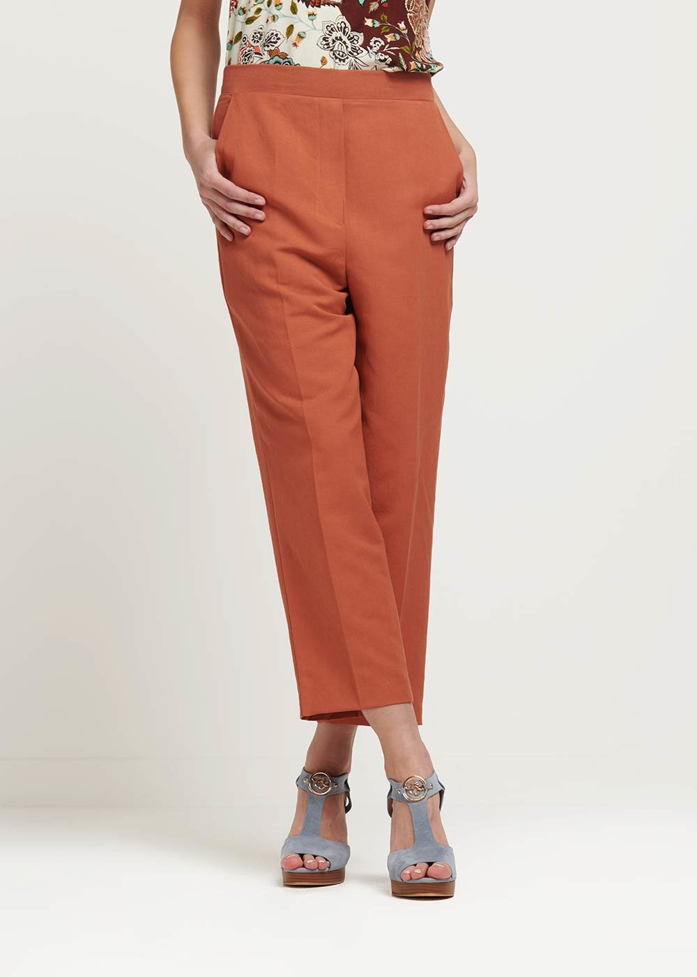 Megan cinnamon trousers - Cinnamon - Woman