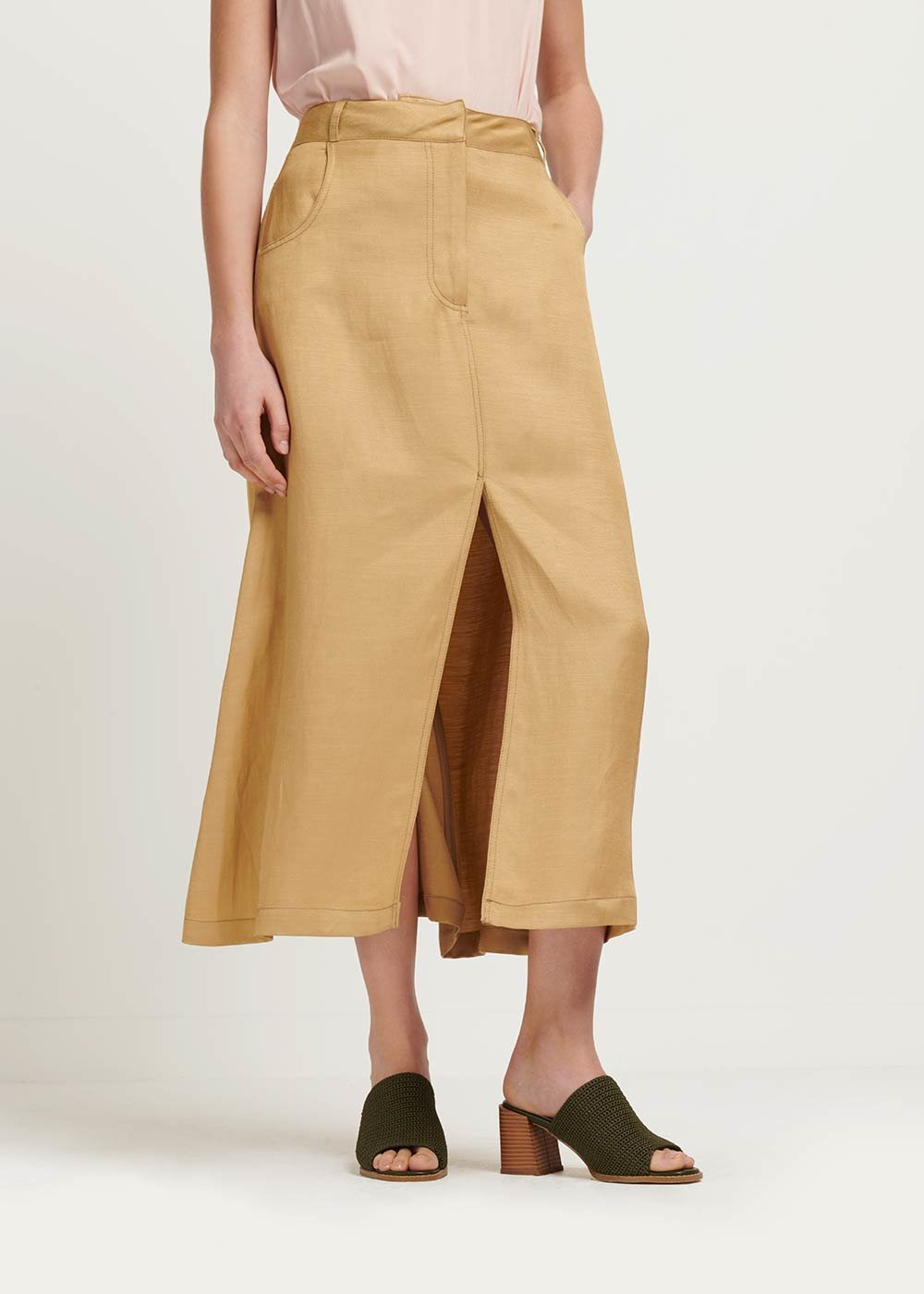 Gaia linen skirt - coconut - Woman