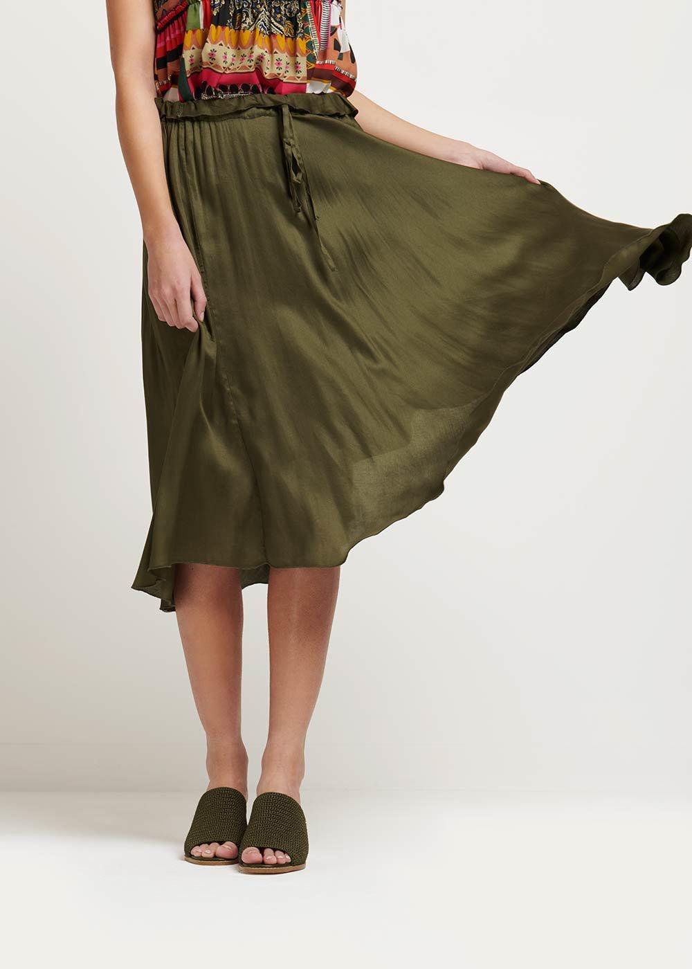 Grady viscose skirt - Green - Woman