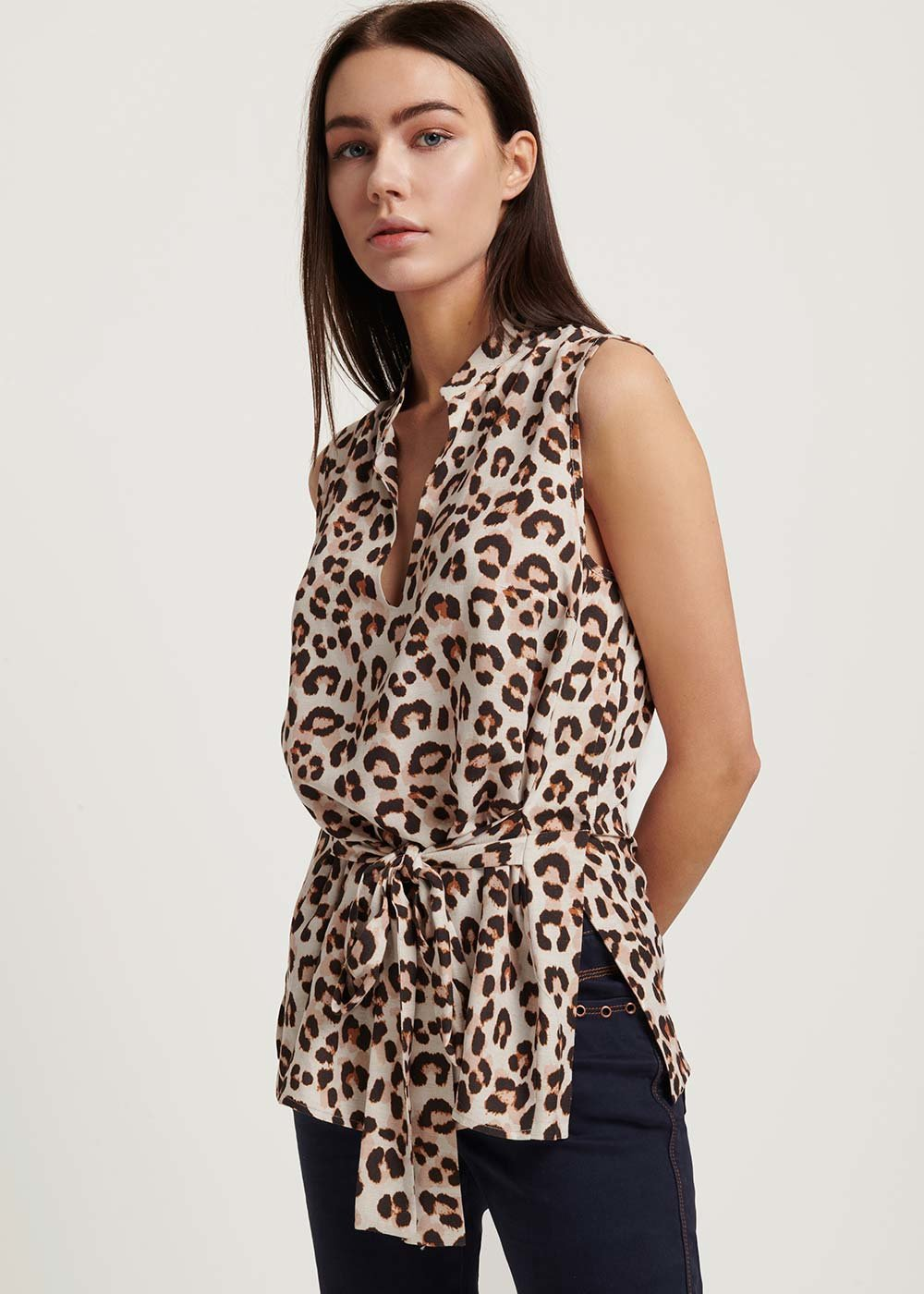 Thorn top with spotted print - L.beige\ Coccio Fantasia - Woman