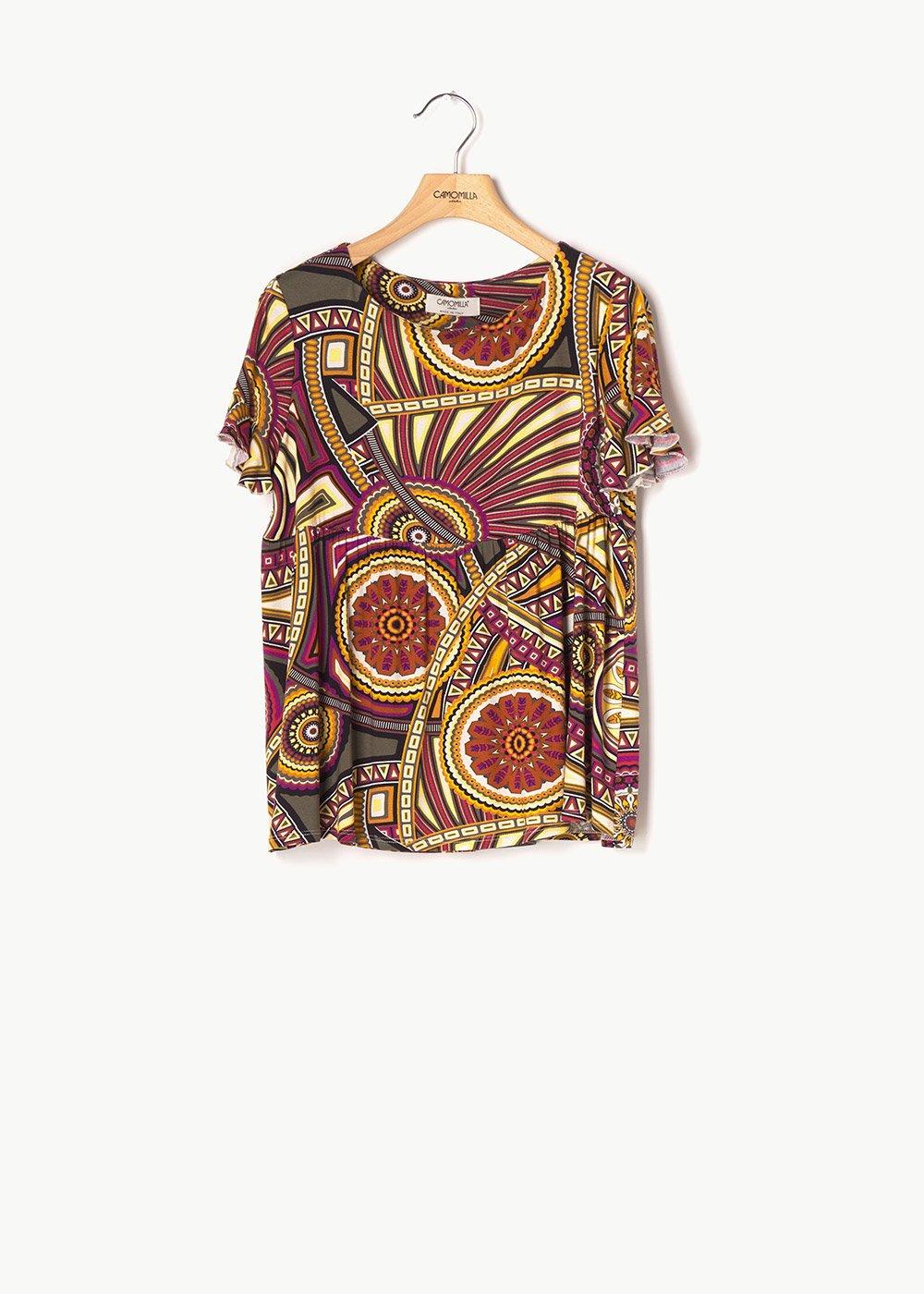 Soemy patterned T-shirt - Aragosta / Timo Fantasia - Woman